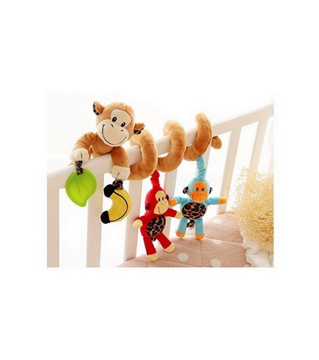 Affe-Baby-Krippe Activity Spirale Kinderwagen Spielzeug-Verpackung um Krippe Schiene oder Kinderwagen Spielzeug Ahatech