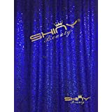 ShiDianYi 4FTx6FT-Royal Blue-Sequin Backdrop, Shimmer Sequin Fabric Photography Backdrops Sequin Curtain for Wedding/Party (Royal Blue)