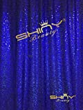 ShinyBeauty 20FTx10FT-Blue-Sequin Backdrop, Shimmer Sequin Photography Background Fabric (Blue)