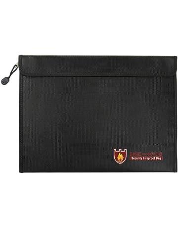 poetryer Bolsa Resistente al Fuego, Bolso de Documentos Resistente al Fuego Guard para Efectivo,