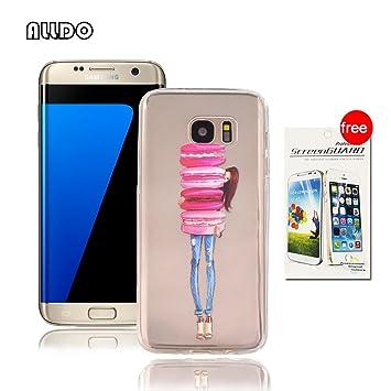 AllDo Funda Silicona para Samsung Galaxy S7 Edge Carcasa Protectora Funda Transparente Claro Caso Suave TPU Soft Silicone Case Cover Bumper Funda ...