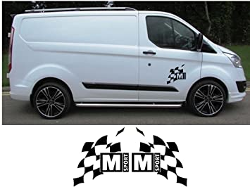 Ford Transit Custom M Sport Large Graphics Stickers Decals
