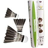 ZHENAN 12-Pack Advanced Goose Feather Badminton Shuttlecocks with Great Stability and Durability,Nylon Shuttlecocks…