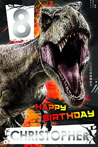 JURASSIC WORLD JW017 - Tarjeta de felicitación de cumpleaños ...