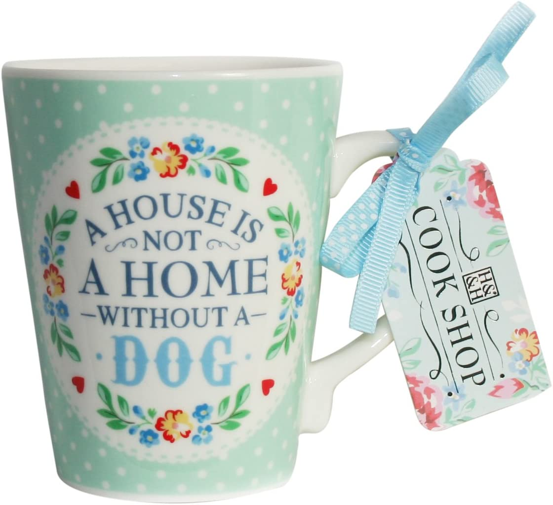 Cook Shop Spatula A house is not a home without a dog Mugs, Pistachio Green