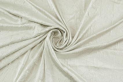 7bb54f47b7f6 Tessuto al metro: Raso stropicciato grigio perla: Amazon.it: Casa e cucina