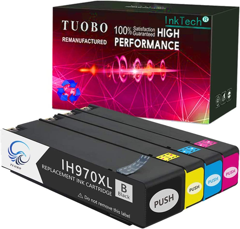 Tuobo 970XL 971XL Ink with Latest Chips, Compatible with 970 970XL 971 971XL Ink Cartridges, High Yield, Work with Officejet Pro X576dw X476dw X476dn X551dw X451dn X451dw Office Printer (1 Set)