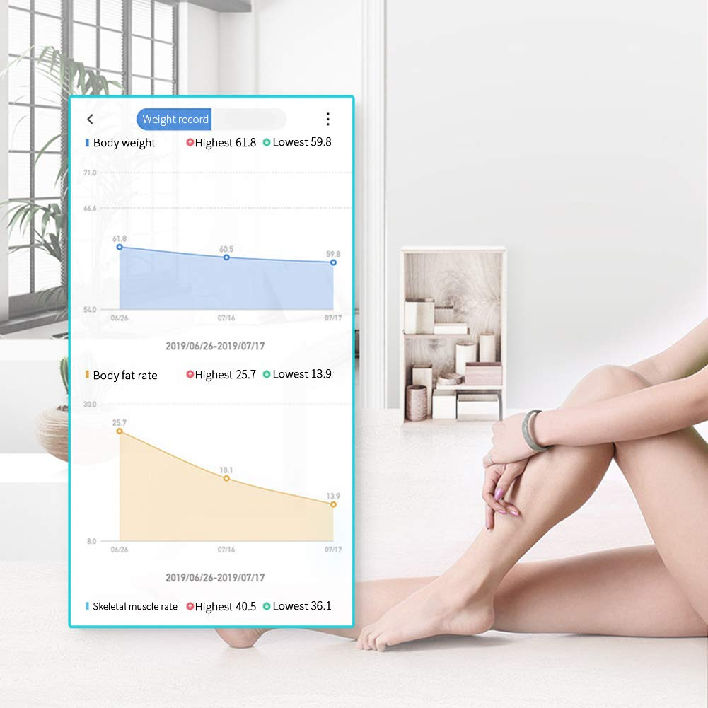 Charging, Rose Gold YepYear Smart Body Fat Scale Bluetooth Body Fat Scale Smart Wireless Digital Bathroom Weight Scale with Okok International version APP Body Composition Monitor for Fat Water BMI Muscle Mass