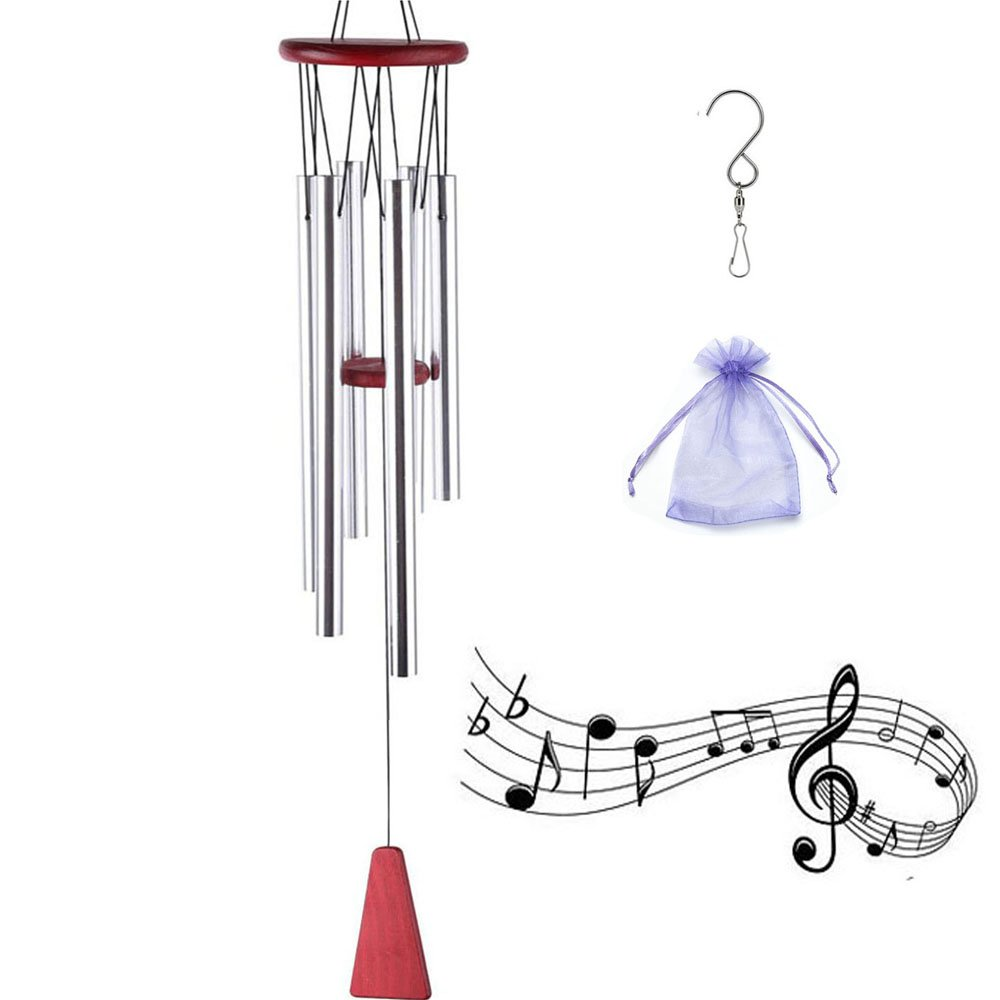 A.B.C. Wind Chimes Outdoor,Nature Musical Melody 6 Different Tones Aluminum Tubes Wind Chimes Gift Perfect Decor for Home Garden,Patio,Balcony Outdoor & Indoor