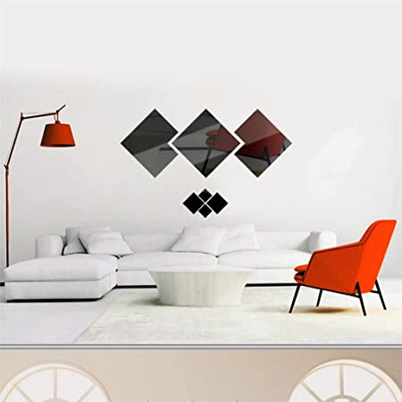 Golden dragonaur Fashion 3D Acrylic Mirror Kiss Lip Wall Sticker DIY Art Mural Decal Home Decor size Medium