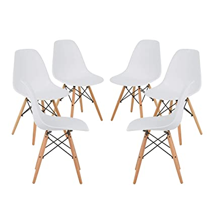 SKLUM Pack 6 SILLAS IMS Blanco Madera Natural - (Elige Color)