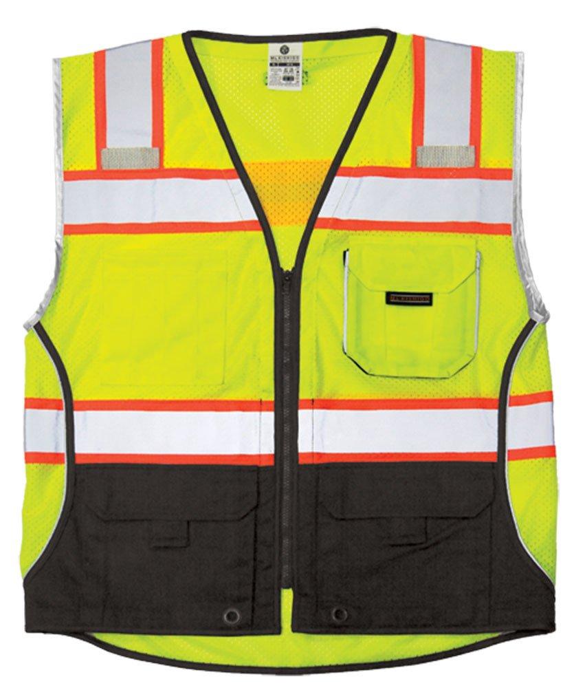 Safety Vest, L, Lime, Male