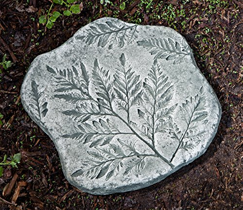 Campania International E-116-AL Fossil Fern Stepper Step Stone, Aged Limestone Finish ()