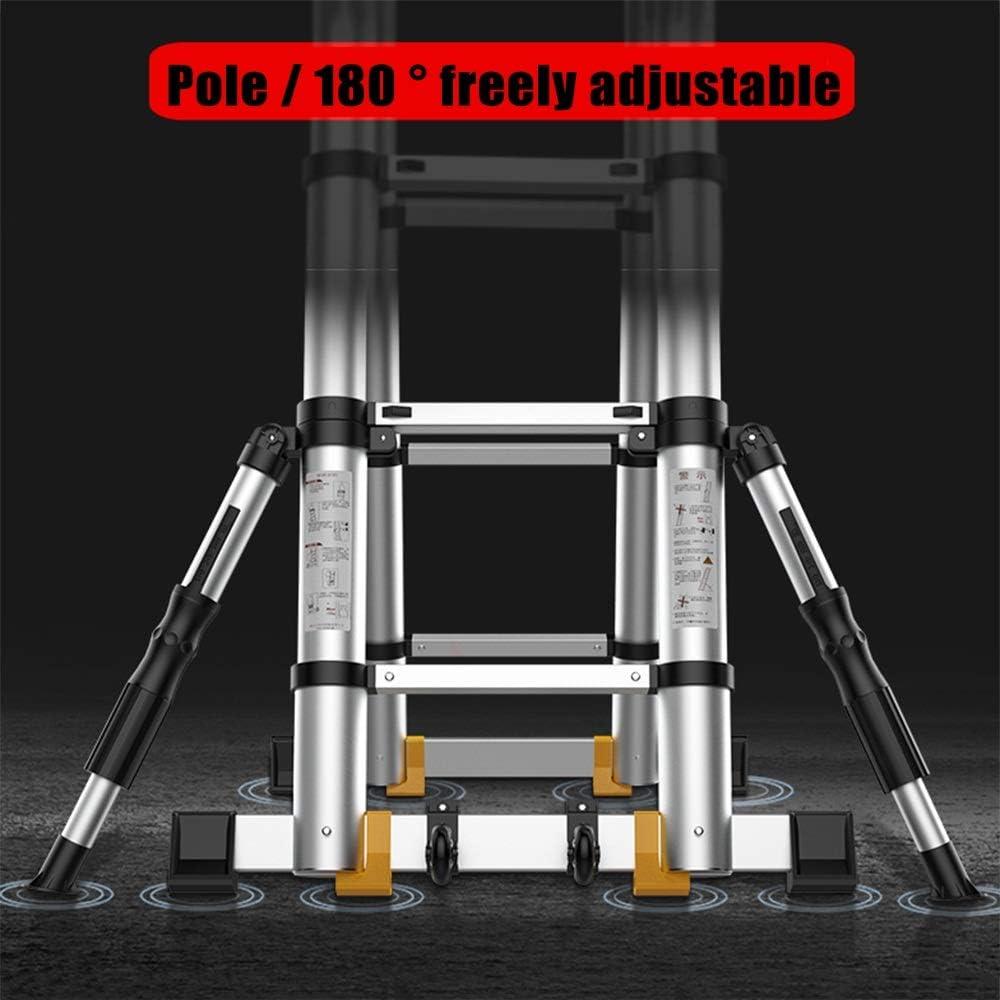 XIA Escalera telescópica plegable 3,4 M / 4,2 m / 5.0m / 5.8m / 6.6m / 7,4 m/maluminum escalera Un Tipo/Straight Escalera, EN131 (Size : 3.7+3.7=Straight ladder 7.4m): Amazon.es: Bricolaje y herramientas