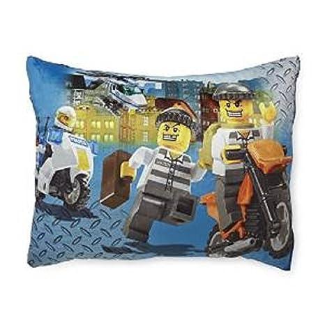 Amazon.com: LEGO City Boy de forro polar cama almohada ...