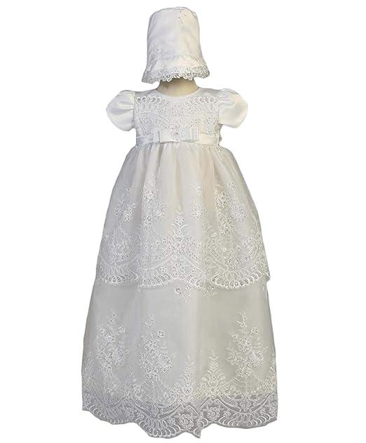 Amazon.com: Vestido de bautizo, para niñas, vestido de ...