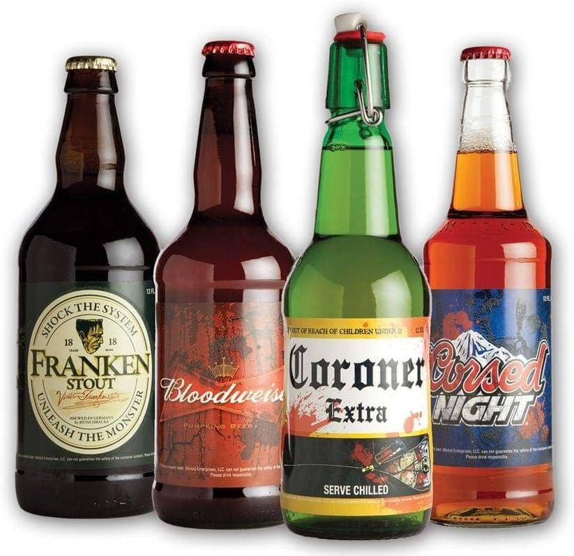 Morbid Enterprises Halloween Glow in the Dark Beer Labels 4 Designs