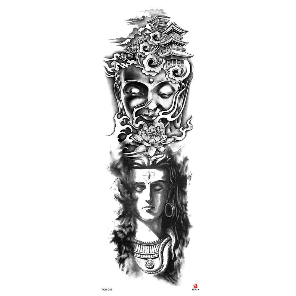 Handaxian Pegatinas de Tatuaje Original Flor Brazo Impermeable ...