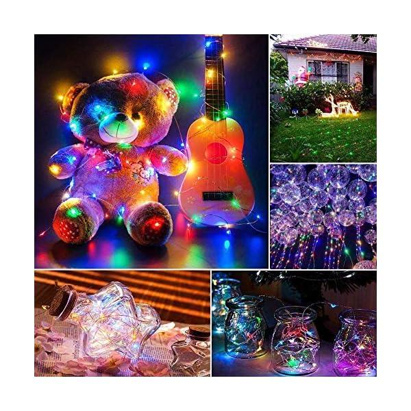 Qedertek Luci Natale Esterno Solare, Luci Natalizie 24M 240 LED, Lampadina Natale con Luci Colorate, Stringa Luci Solare Impermeabile, Luci Addobbi Natalizi per Albero di Natale (colore) 4 spesavip
