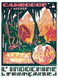 TRAVEL CAMBODIA INDOCHINA ANGKOR WAT TEMPLE FRANCE ART PRINT POSTER BB8419B