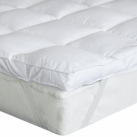 Bedecor Microfibra Almohadilla de colchón de poliéster,Suave,antialérgico,fácil de Limpiar,Blanco 90cmx190/200cm: Amazon.es: Hogar