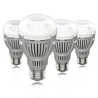 SGLEDS Enclosed Fixture Rated Bulbs, 12W (150W Equivalent LED Bulb), 5000K LED Bulbs, 1600lm Light Bulbs, A19, 4Pack