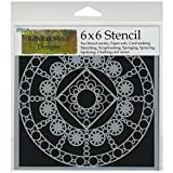The Crafter's Workshop 6 x 6-inch Byzantine Stencil, Black/ White by The Crafter's Workshop