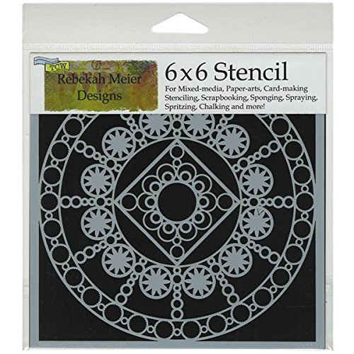 The Crafter's Workshop 6 x 6-inch Byzantine Stencil, Black/ White by The Crafter's Workshop by CRAFTERS WORKSHOP