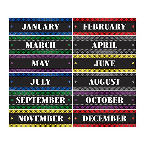 Teacher Created Resources Plaid Monthly Headliners (5699)