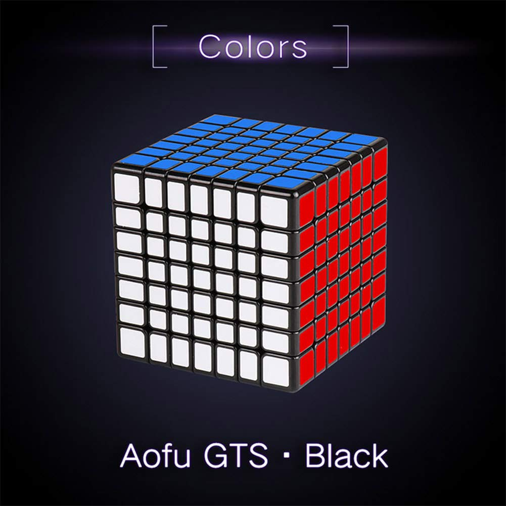 Zehui Children Adult 7x7 Cube 7 Layers Funny Puzzle Toy Black (Normal Version)