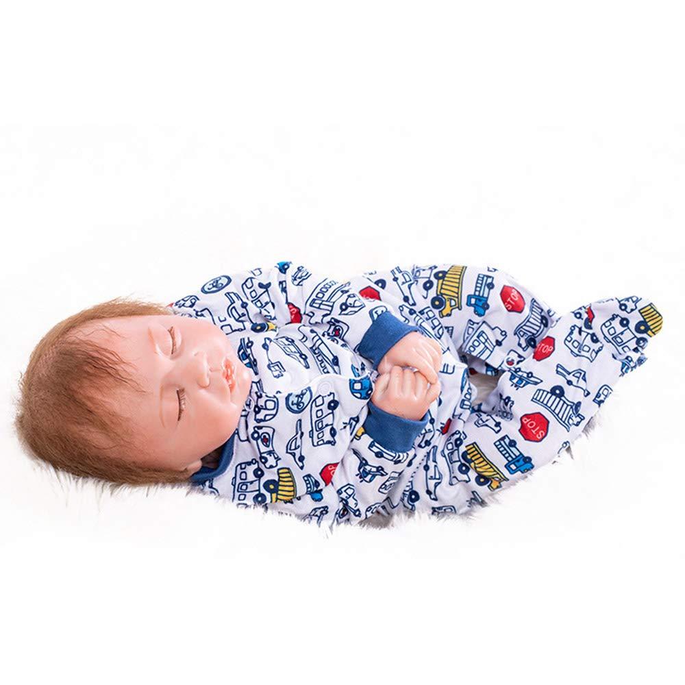 moda clasica ZMH Doll Bebe Reborn Girl Dolls Realista Suave 48 48 48 cm Silicona Bonecas Ropa de bebé Vestido de Punto blanco Juguetes para niños  más vendido