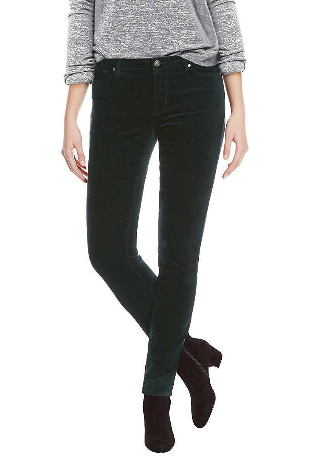 BUFFALO David Bitton Women's Faux Velvet Skinny Pant with Stretch