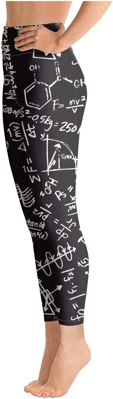 Eoyles gy Womens High Waist Comfortable Scientific Method Formula Athletic Pants for Yoga Leggings
