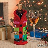 Ugly Sweater Wine Bottle Bag Gift Cover by Fun Express