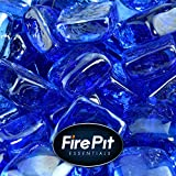 Blue Fire Glass for Indoor and Outdoor Fire Pits or Fireplaces |...