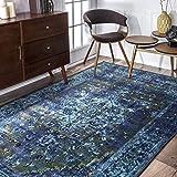 nuLOOM Vintage Persian Reiko Area Rug, 8' x 10', Blue