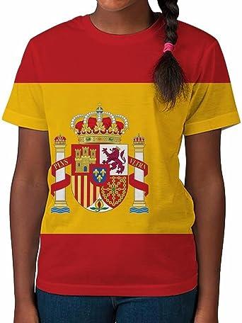 Camiseta para Niños en Impresión Total Bandera de España Vestidos de Verano para Chicas Top Impreso: Amazon.es: Ropa y accesorios
