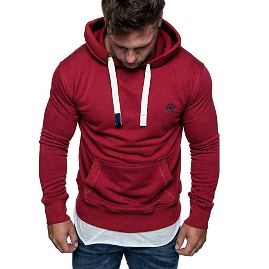 Yvelands ¡Oferta Sudaderas con Capucha para Hombre Cosy Sport Outwear Sudadera con Cremallera Completa Ecosmart Hoodie Casual Sweatshirt Top Blouse ...
