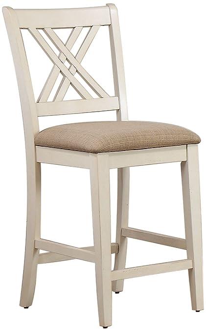 Fine Amazon Com Iconic Furniture Double X Back Counter Stool Creativecarmelina Interior Chair Design Creativecarmelinacom