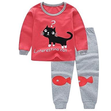 Gato Pijamas Para Chicas Conjunto De Pijamas Para Pjs De ...