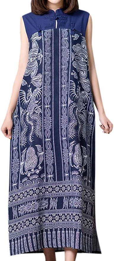 iPOGP Women Casual Stripe Long Sleeve Dress Cotton O-Neck Solid Color Simple Dress Fashion