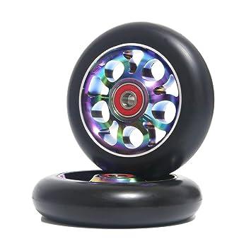 Ruedas de repuesto de 110 mm para patinete profesional, con rodamientos ABEC 9, compatibles con patinetes MGP, Razor y Lucky, 2 unidades