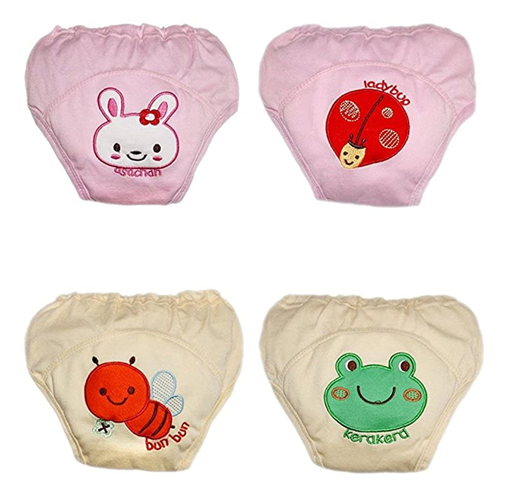 October Elf Unisex-Baby Toilet Training Pants Toddler 4 Pack Nappy Underwear Cloth Diaper