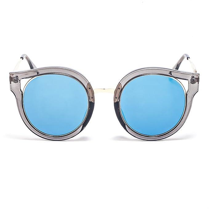 Smileyes Gafas De Sol Moda Ostentoso Con AC Lente UV400 Para Mujer TSGL053 (azul)