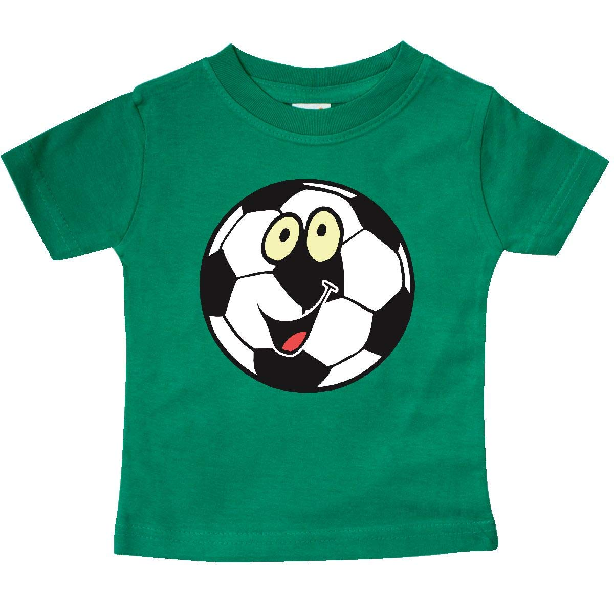 inktastic Smiling Soccer Ball Baby T-Shirt