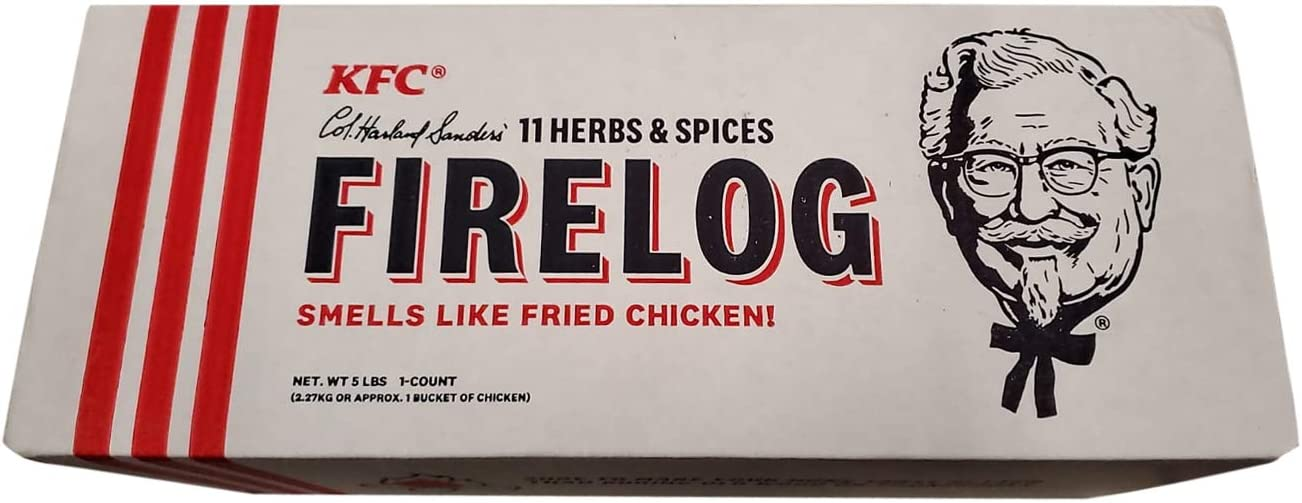 KFC Fire Log 11 Herbs /& Spices EnviroLog Kentucky Fried Chicken Firelog IN HAND