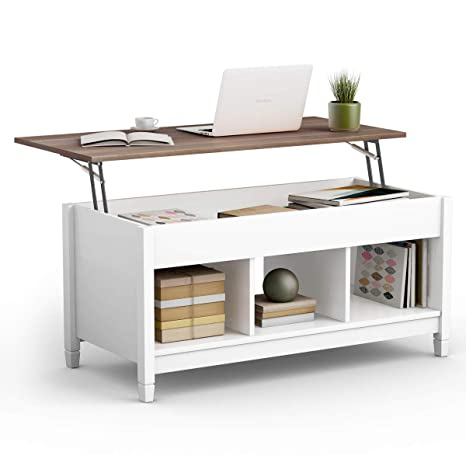 Awesome Tangkula Coffee Table Lift Top Wood Home Living Room Modern Lift Top Storage Coffee Table W Hidden Compartment Lift Tabletop Furniture White Evergreenethics Interior Chair Design Evergreenethicsorg