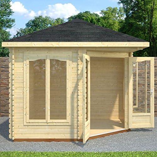 Nova 3 m x 3 m Huntingdon esquina Log Cabin – oficina en casa ...