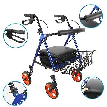 WDXIN Andador para Ancianos Plegable Regulable En Altura ...