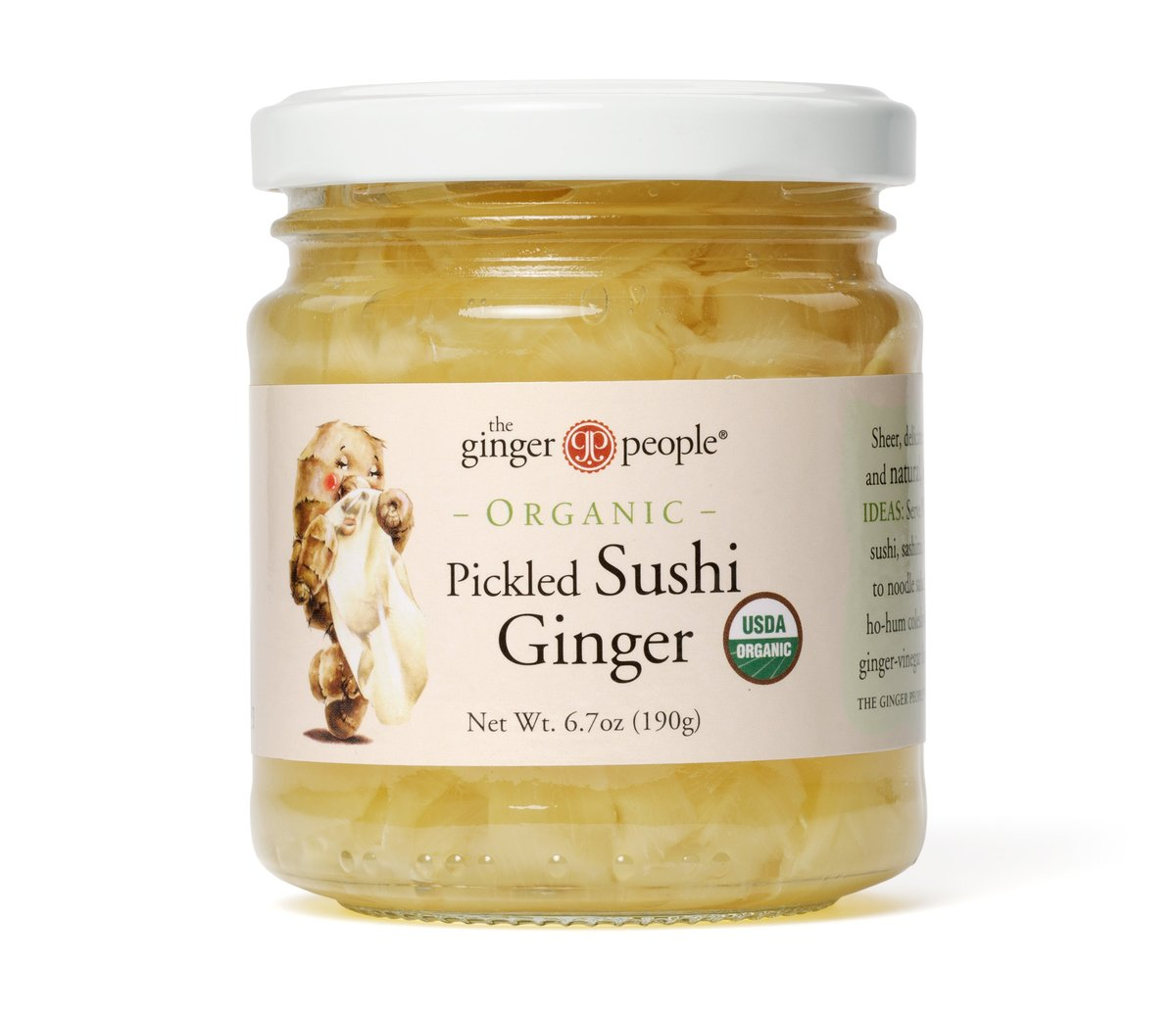 The Ginger People Organic Pickled Sushi Ginger, 6.7000-Ounce Glass Bottle (Pack of 12)
